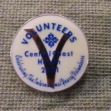 #D312.  2001  CENTRAL COAST HEALTH  LAPEL  BADGE