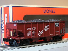 LIONEL CB&Q SCALE GLA 50 TON TWIN HOPPER 188010 load 81688 o gauge train 6-81690