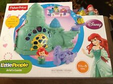 Fisher Price Little People Ariel Castle Princess Disney Sebastian Sound New Toy