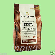 "CALLEBAUT MILK CHOCOLATE 5.5# ""823NV"" 33.6% COCOA FINEST BELGIAN CHOCOLATE"