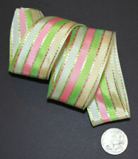 RIBBON with STRIPES, 1 Mtr, Gifts/Cards/Baby/Bows