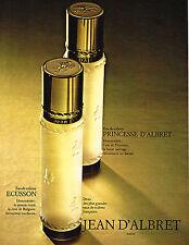 PUBLICITE  1970   JEAN D'ALBRET    ECUSSON & PRINCESSE  eau de toilette parfums