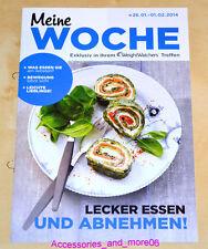 Weight Watchers Meine Woche 26.1 - 1.2 ProPoints Plan 2014 Wochenbroschüre *NEU*