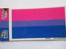 "Gay Pride Bi-sexual Flag Bumper Sticker - 3"" x 5"""