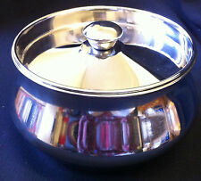 Stainless Steel Container with Lid Garbi Pot ideal for  Pooja,Yogurt,Milk Pan