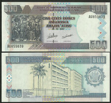 BURUNDI 2007 500 Francs BANKNOTE UNCIRCULATED