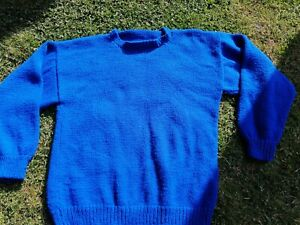 Blue Hand Knitted School Jumper