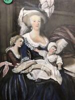 Portrait Pastel Dessin Ancien Style XVIIIeme Napoléon III Marie Antoinette