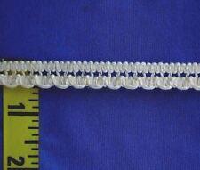 "1/2"" White Beading Lace Cotton Cluny Lace Scalloped Edging Trim Gimp 5 yds #W192"