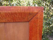 c1840 Excellent American Solid Tiger Maple Primitive Fraktur Sampler Folk Frame