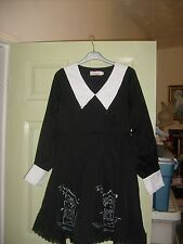 Goth Halloween Skater dress Size small VERY UNUSUAL