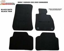 Bmw 3 Series Saloon E90 2005 to 2011 Fully Tailored Car Mats in black