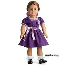 American Girl Emily's Purple HOLIDAY OUTFIT Christmas Dress   DOLL NOT INLCUDED