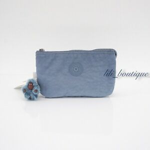 NWT New Kipling AC2084 Creativity L Large Accessory Pouch Polyamide Blue Buzz 34