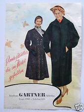 Kaufhaus Gartner Kötzting, 4 seitige Werbung, 50/60iger Jahre