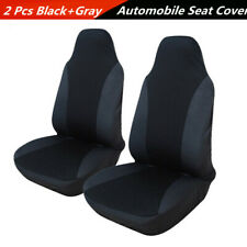 2x Classic Style Automobile Universal Front Seat Cover Polyester Fabric Cushions