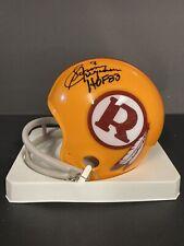 Sonny Jurgensen Autographed Washington Redskins Mini Helmet #9 HOF 83