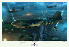 9th Air Force Troop Carrier C-47 print autographed Band of Brothers vet & pilot!