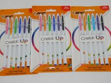 Bic Cristal Up Assorted Colors Ballpoint Pens THREE PACKS 6 Colors