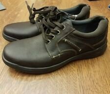 Clarks Narrative Cotrell Plain Men  Round Toe Leather Brown oily Oxford size 10