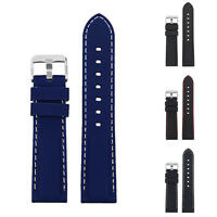Universal Vintage Soft Silicone Watch Strap Band Watchband Replacement Wristband