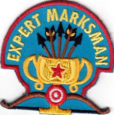 """EXPERT MARKSMANSHIP""  Iron On Embroidered Patch- Archery SportsTarget Archer"