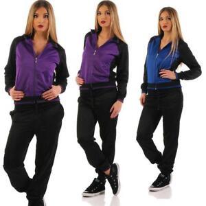 Damen Jogginganzug Freizeitanzug Hausanzug  Anzug mit Reißverschluss Gr. S - XXL