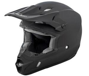 Fly Racing Kinetic Solid Matte Black Moto Helmet Offroad Dirt ATV
