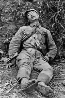Chinese soldier wounded on the battlefield WW2 photo 4x6 #1516