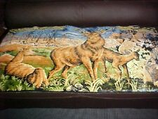 A vintage  tapestry of a  group of deer 20 x 40 inches.