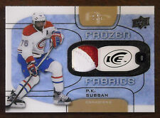 2015/16 P.K. SUBBAN UD ICE FROZEN FABRICS GAME USED PATCH SSP / 5