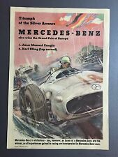 "1954 Mercedes Benz ""Triumph of the Silver Arrows"" Victory Print / Poster RARE!!"