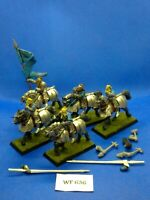 Warhammer Fantasy - Empire - White Wolf Knights x4 with Command Group - WF636