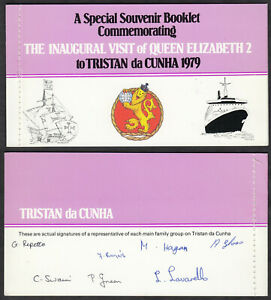 TRISTAN da CUNHA 1979 ☀ blank booklet with stamps from booklet 1972 ☀ 4 x 5v MNH