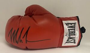 Mike Tyson Signed Boxing Glove Autographed AUTO JSA WITNESSED COA HOF