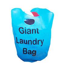Giant sac à linge 40 cm diamètre 50 cm profond double poignées bleu