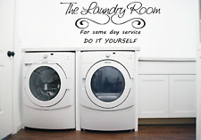 Laundry Room Service Kitchen Words Quote Transfer Wall Art Sticker Decal Q92