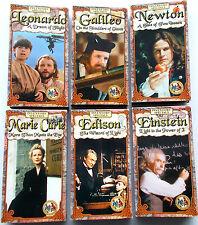 6 VHS 'Inventors Specials' Feature Films for Families-Einstein,Edison,Galileo
