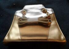 MODA  ATTIVA WOMAN'S HAND BAG WITH  22 INCH STRAP, GOLDISH TONES