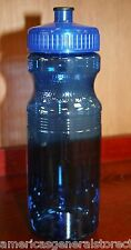 24 oz SEACOAST WATER BOTTLE bicycle bike CLEAR BLUE cage USAMADE wide mouth 8.5""