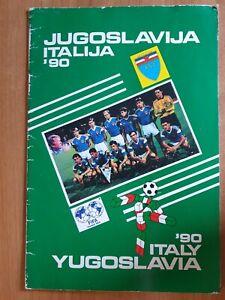 Publication football Yugoslavia team FIFA World Cup Italy 1990 WC Italia 90