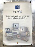 Apple Mac OS Friendly Face 1995 Poster Vintage  Macintosh