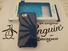 Penguin i5 Estuche Duro Clip Azul Marino logotipo impreso en la tapa posterior Apple iPhone 5 5S