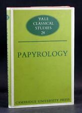 Papyrology Naphtali Lewis Yale Classical Studies Book 28 Hardcover w/Dustjacket