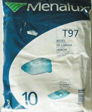 T97 MENALUX 10 sacs pour aspirateur HITACHI CV4700 DELONGHI XS1200D BISSEL
