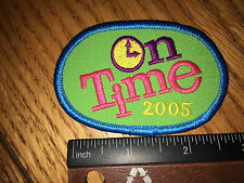 Girl Scout Patch -On Time 2005 - New - Qty1 - Bright Colors!