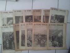 lot 14 numéros du journal LA SCIENCE POPULAIRE entre 85 et 98 ( 1881)
