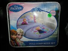 Disney Frozen Bed Set Full Size Comforter W/Fitted Sheet,Pillowcases, Anna Elsa
