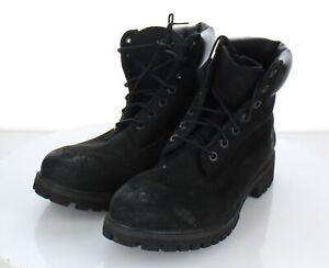 "17-29 $170 Men's Sz 9 M Timberland 6"" Premium Nubuck Leather Boot In Black"