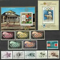 s27887) OLYMPIC GAMES OLIMPIADI MNH** 5 different complete sets 11v + 2 s/s